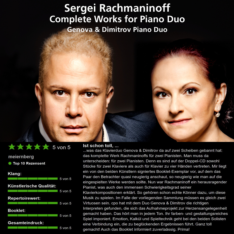 The first review on RachmaninoffComplete by jpc Top 10 Reviewer Meiernberg (5 of 5 Stars)